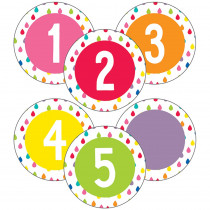 CD-120559 - Student Numbers Mini Cut-Outs Hello Sunshine in Accents