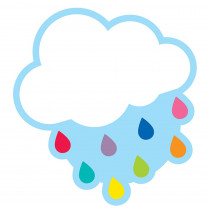 CD-120560 - Cloud With Raindrops Cut-Outs Hello Sunshine in Accents