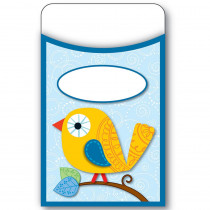 CD-121009 - Boho Birds Library Pockets in Library Cards