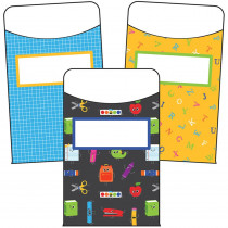 CD-121016 - School Tools Library Pocket Gr Pk-8 in Organizer Pockets