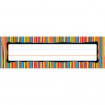CD-122008 - Deskplates Colorful Stripes in Name Plates