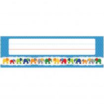 CD-122127 - Elephant Deskplates Gr Pk-5 in Name Plates