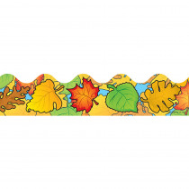 CD-1227 - Border Colored Leaves Scalloped in Holiday/seasonal