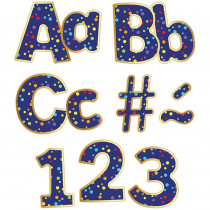 CD-130087 - Rainbow Confetti Ez Letters Sparkle And Shine in Letters
