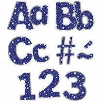 CD-130088 - Navy With Silver Stars Ez Letters Sparkle And Shine in Letters