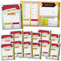 CD-145102 - Substitute Teacher Folder 24 Pk Aim High in Folders