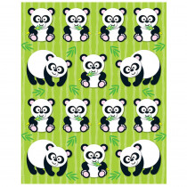 CD-168021 - Pandas Shape Stickers 84Pk in Stickers