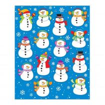 CD-168035 - Snowmen Shape Stickers 84Pk in Holiday/seasonal