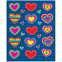 CD-168036 - Hearts Shape Stickers 90Pk in Holiday/seasonal