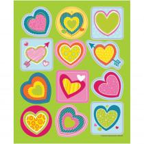 CD-168190 - Bright Hearts Shape Stickers in Holiday/seasonal
