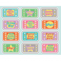CD-168242 - Up And Away Motivators Gr Pk-5 Shape Stickers in Stickers