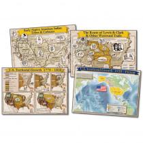 CD-1953 - Bulletin Board Set Historical Maps Of The Us 17X24 in Social Studies