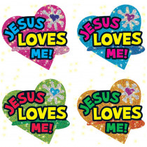 CD-2178 - Dazzle Stickers Jesus Loves 120/Pk Me in Inspirational