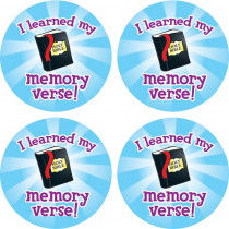 CD-268019 - I Learned My Memory Verse Stickers in Inspirational
