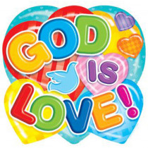 CD-288001 - God Is Love in Two Sided Decorations