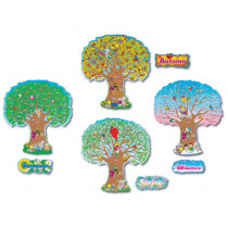 CD-3214 - Bulletin Board Set Four Season Trees 4 - 25T in Holiday/seasonal