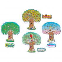 CD-3214 - Bulletin Board Set Four Season Trees 4 - 25T in Holiday/seasonal