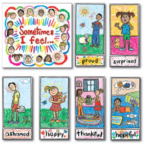 CD-3250 - Bulletin Board Set Kid-Drawn Emotions in Social Studies