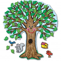 CD-3257 - Bulletin Board Set Big Tree Kid-Drawn 48 X 54 in Science