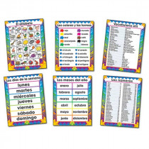 CD-3288 - Bulletin Board Set Spanish Chartlets 6/Pk 17 X 22 in Charts