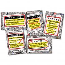 CD-3441 - Bulletin Board Set Wanted Good Character Gr 4-8 in Social Studies