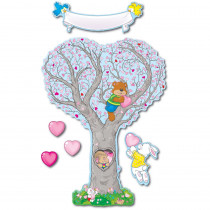 CD-3445 - Bulletin Board Set Caring Heart Tree in Holiday/seasonal