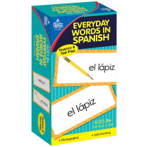 CD-3924 - Flash Cards Everyday Words In Spanish Photographic in Flash Cards
