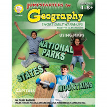 CD-404060 - Jumpstarters For Geography Books Social Studies 4-8& Up in Geography