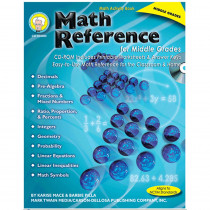 CD-404089 - Math Reference For Middle Grs in Activity Books