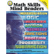 CD-404132 - Math Skills Mind Benders in Activity Books