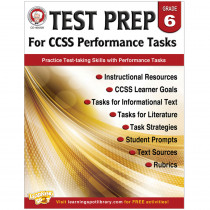 CD-404229 - Gr 6 Test Prep For Ccss Performance Tasks in Language Arts