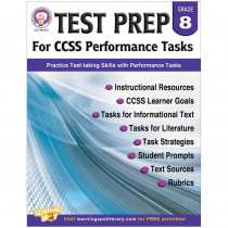 CD-404231 - Gr 8 Test Prep For Ccss Performance Tasks in Language Arts
