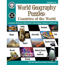 CD-405015 - Countries Of The World Puzzle Gr 5-12 World Geography Puzzles in Geography