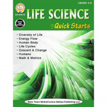 CD-405016 - Life Science Quick Starts Gr 4-9 in Life Science
