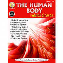 CD-405017 - Human Body Quick Starts Gr 4-9 in Human Anatomy