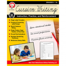 CD-405023 - Cursive Writing Instruct Practice N Reinforcement in Handwriting Skills