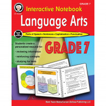 CD-405028 - Language Arts Workbook Gr 7 Interactive Notebook in Reference Books