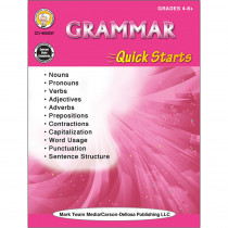 CD-405037 - Grammar Quick Starts Workbook in Reference Books