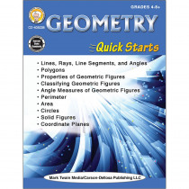 CD-405038 - Geometry Quick Starts Workbook in Activity Books