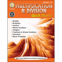 CD-405039 - Multiplication & Division Workbook Quick Starts in Activity Books