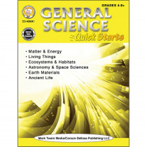 CD-405041 - General Science Quick Starts Workbk in Activity Books & Kits