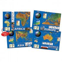 CD-410055 - Eastern Hemisphere Maps Bulletin Board Set in Social Studies