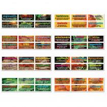CD-410077 - 48 Life Science Testing Words Mini Bulletin Board Set Set in Science