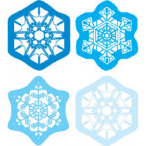 CD-5231 - Shape Stickers Snowflakes in Holiday/seasonal