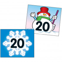 CD-5444 - Two-Sided Calendar Cover-Ups Snowflake/Snowman in Calendars