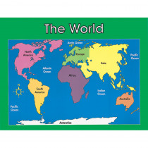 CD-6246 - Chartlet World Map 17 X 22 in Social Studies