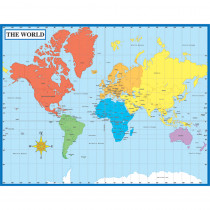 CD-6302 - Chartlet Map Of The World 17 X 22 in Social Studies