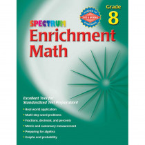 CD-704069 - Spectrum Enrichment Math Workbook Gr 8 in Activity Books