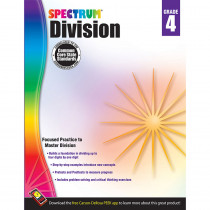 CD-704510 - Spectrum Gr4 Division Workbook in Multiplication & Division