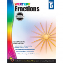 CD-704511 - Spectrum Gr5 Fractions Workbook in Fractions & Decimals